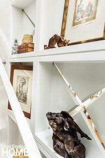 Back Bay condo for art collectors stairway