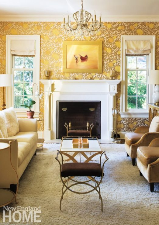 """The owner, who oversaw the interior design process, introduced color throughout. """"I wanted it to feel like it's a warm house,"""" she says."""