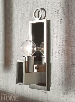 The Lancaster sconce from the Archer collection is simple and versatile.