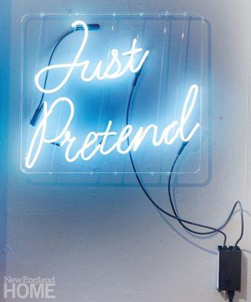 Just Pretend (2013), neon, 24″ × 24″