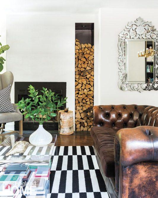 Contemporary Cambridge home living room