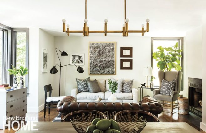 Contemporary Cambridge home living and dining room