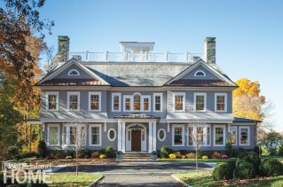 So classic are the lines and materials of this Shingle-style waterfront home in Greenwich, it's almost hard to believe it was only recently built.
