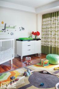 The playful nursery sports an African motif.
