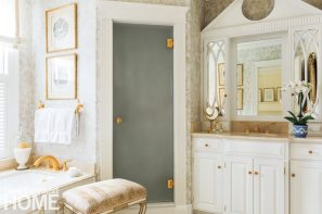 Over the years, contractor Dick Ianetti of Reading, Massachusetts, helped Whalen with numerous projects, including fabricating the vanity and cabinetry she designed for the master bath.