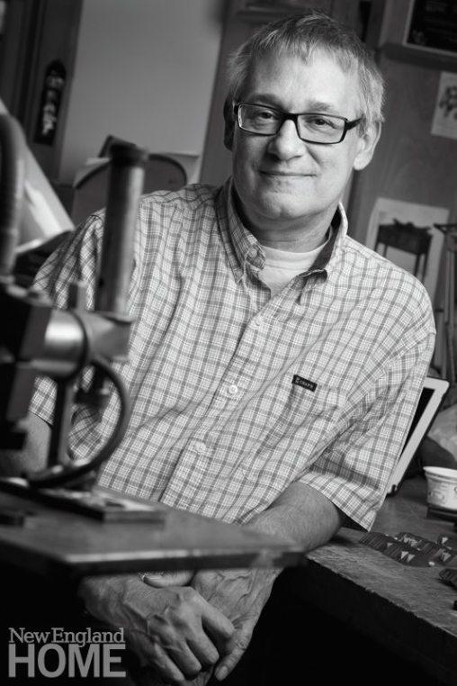 Maine Furniture Craftsman Brian Reid in his Workshop