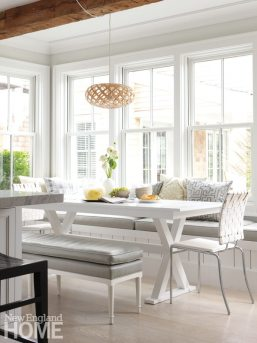 Nantucket Shingle Style Dining Nook