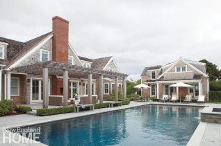 Nantucket Shingle Style Pool and Pool House