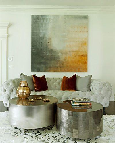 Lynne Scalo Elegant Living Room with Artwork
