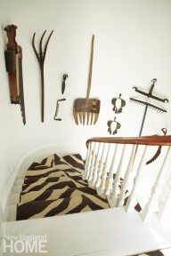 Gayle Mandle Stairwell with Zebra Rug