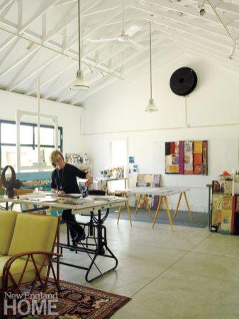 Gayle Mandle in Studio