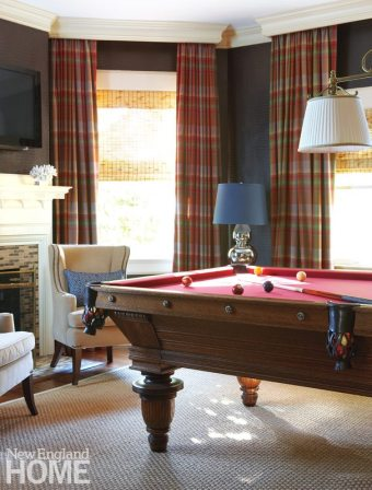 Southport Shingle Style Billiard Room