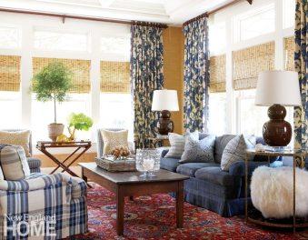 Southport Shingle Style Family Room