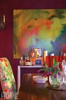 Home of Artist Rachel Valpone Dining Room Painting