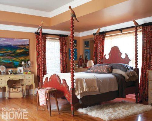Home of Artist Rachel Valpone Master Bedroom
