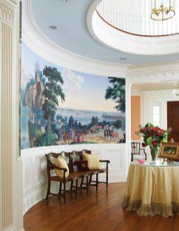 Fairfield County Georgian Colonial Foyer