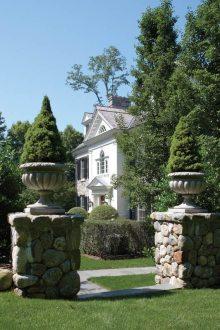 Fairfield County Georgian Colonial Exterior
