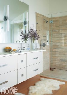 Contemporary Nantucket Shingle Style Master Bathroom