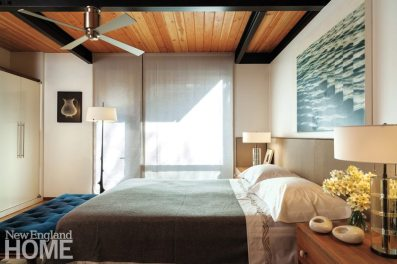 Contemporary Boston South End Townhouse Master Bedroom