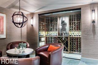 Cap Cod coastal wine cellar