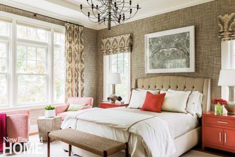 Cape Cod coastal master bedroom
