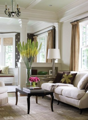 Country Club Homes Shingle Style Living Room