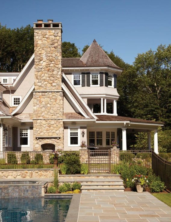 Country Club Homes Shingle Style Rear of House
