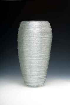 "Waterspout # 11 (from a 1979–1994 series), blown glass with spun glass threads, 18½""H"