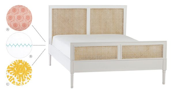 guest room serena and lily caned bed