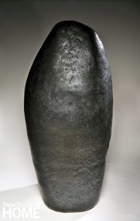 Ann Mallory Memory Stone #4 (2014), 46½″H, high-fired ceramic