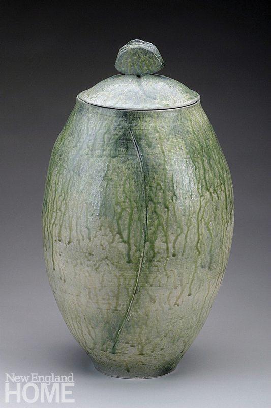 Ann Mallory Casing #7 (2002), 19½″H × 6½″W, ceramic