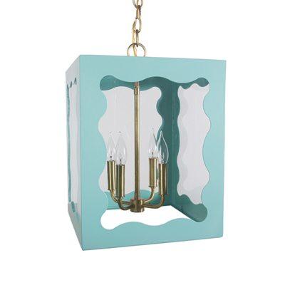 Guest room light blue lantern