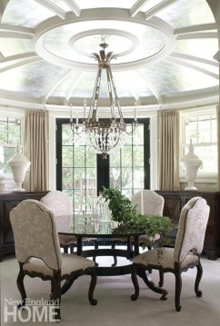 Dining room in Brookline home designed by Meyer & Meyer.