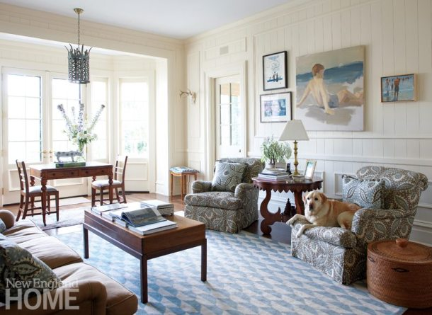 Litchfield County Neoclassical Family Room
