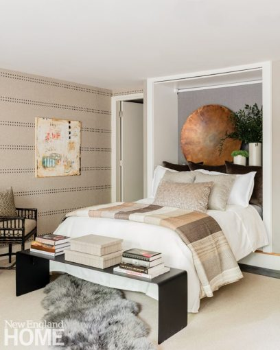 Nicole Hogarty Boston Townhouse Neutral Teen Bedroom with Murphy Bed