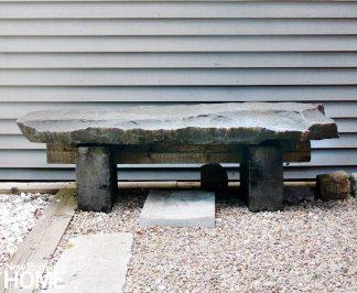 JS Gallery Wellflleet, Massachusetts, Stone Bench