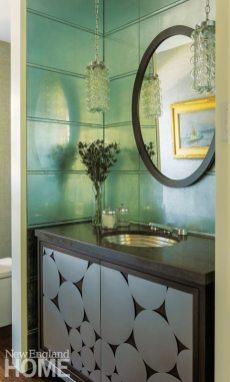 Lda Architects Wellesley Tudor-Style Home Powder Room