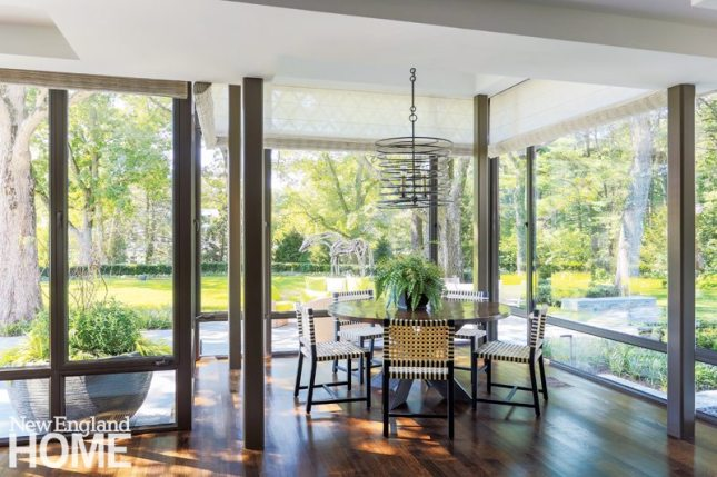 Lda Architects Wellesley Tudor-Style Home Breakfast Area
