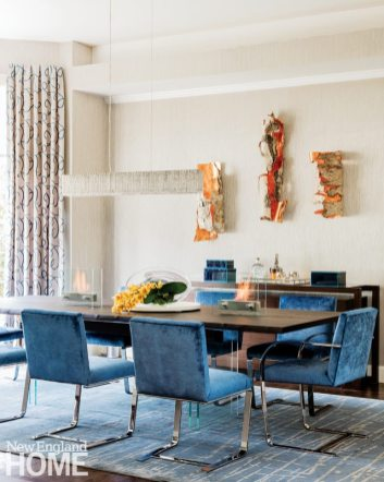 Vibrant Family Home Dining Room