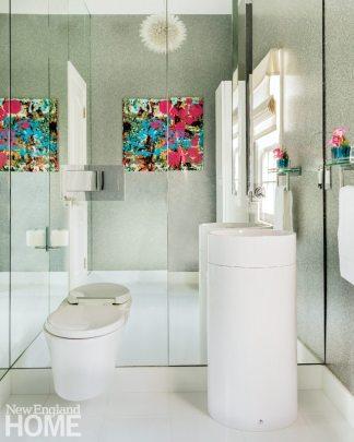 Vibrant Family Home Contemporary Bathroom