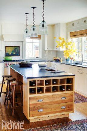 Sheldon Penoyer New Hampshire Blue and White Kitchen