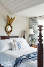 Sheldon Penoyer New Hampshire Blue and White Guest Bedroom