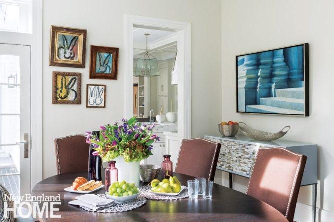 Dining Nook Weston Massachusetts Home