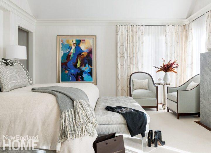 Master Bedroom Weston Massachusetts Home