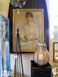 Cottage and Garden Newport Rhode Island Vintage Painting
