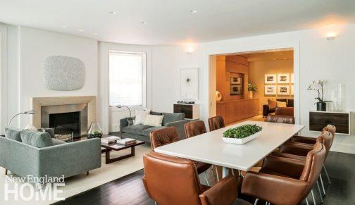 Modern and Minimalist Boston Townhouse Great Room