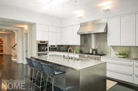 Modern and Minimalist Boston Townhouse Kitchen