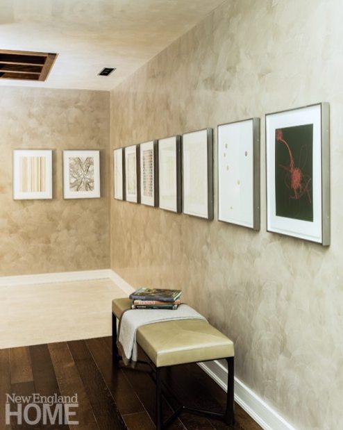 Contemporary and Family Friendly Boston Condo Contemporary Foyer with Prints