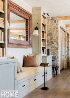 Neutral and Sophisticated home in Concord, Massachusetts Banquette