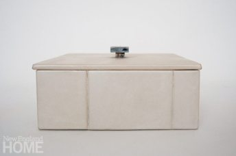 York Street Studio White Leather Box